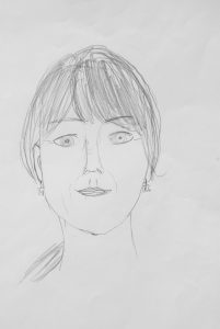 Selbstportrait Zeichnung Kursanfang