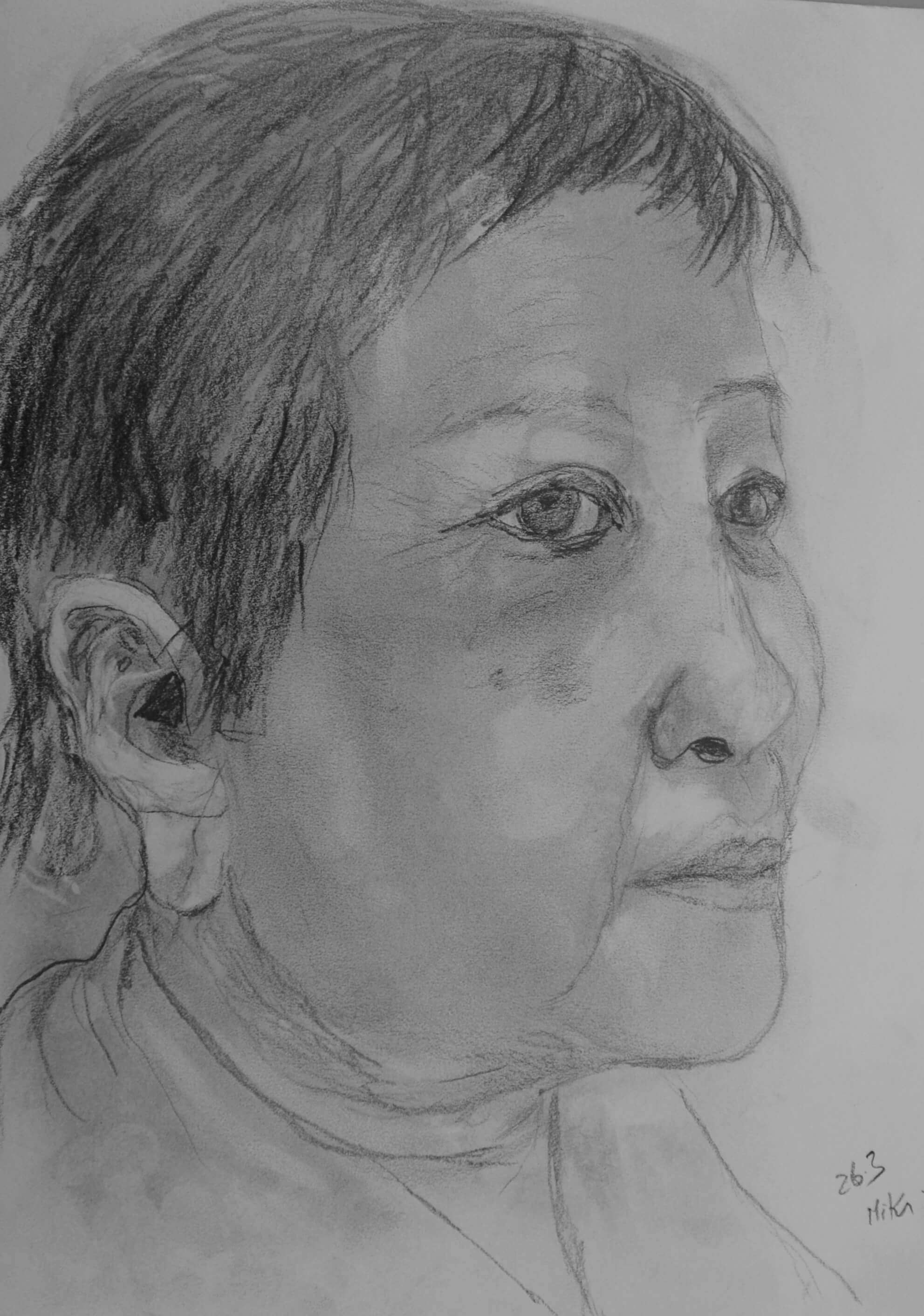 Miki, Seitenportrait