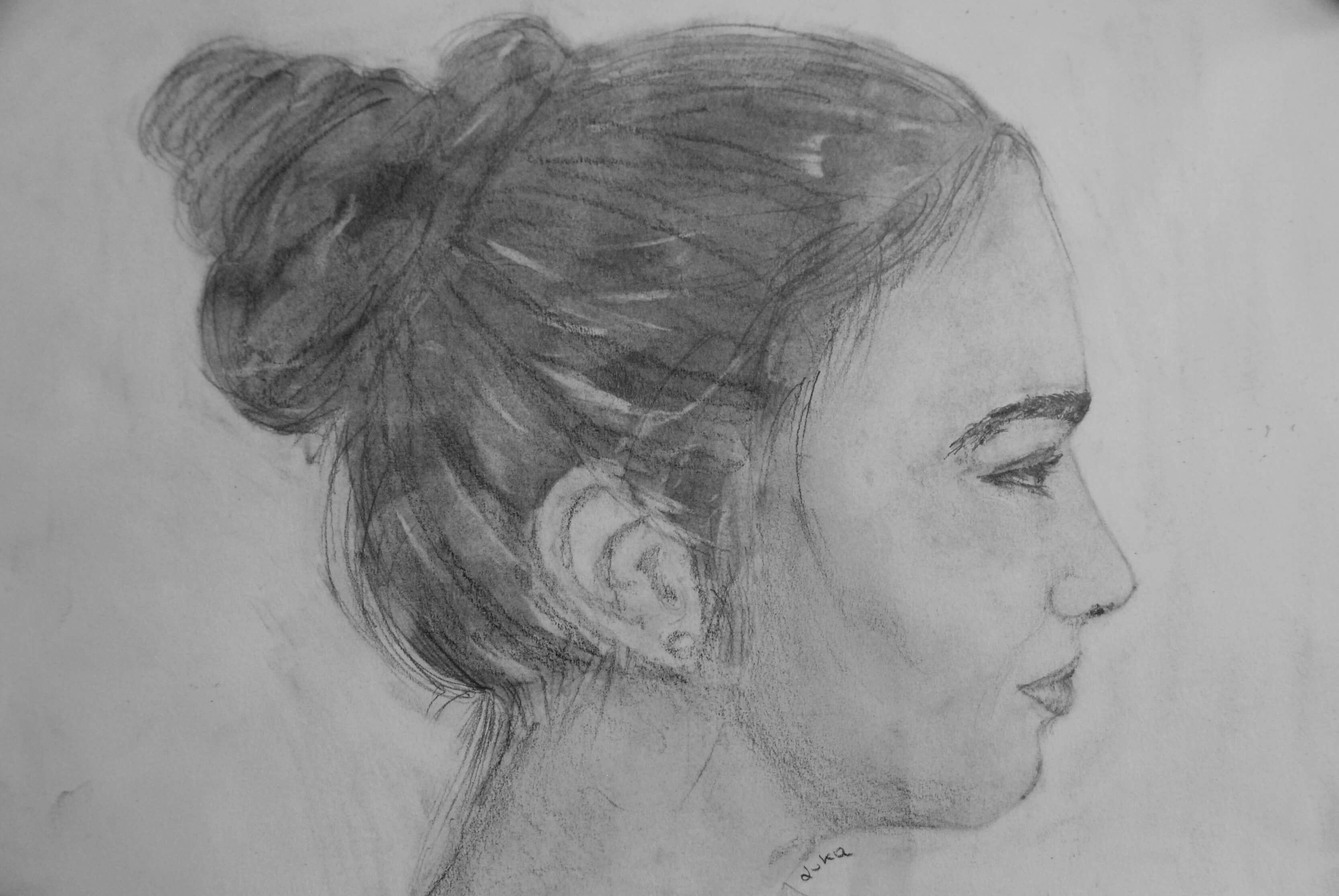 Pia, Seitenportrait