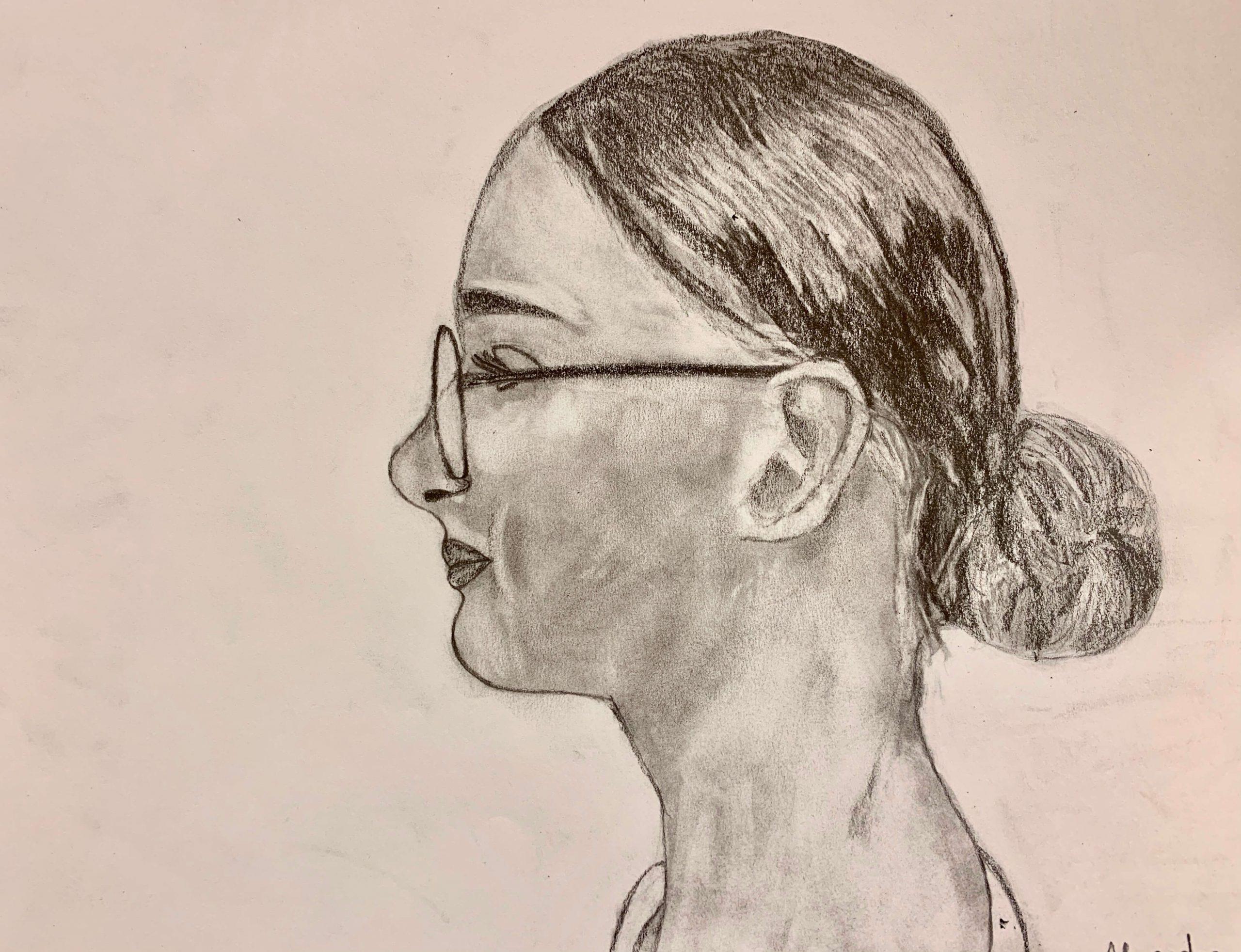 Seitenportrait Alexandra, 14 Jahre